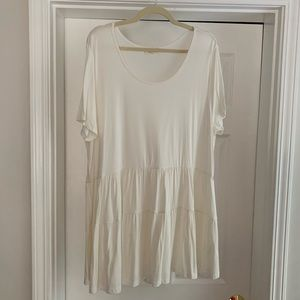 Ivory Double Ruffle Top Boutique
